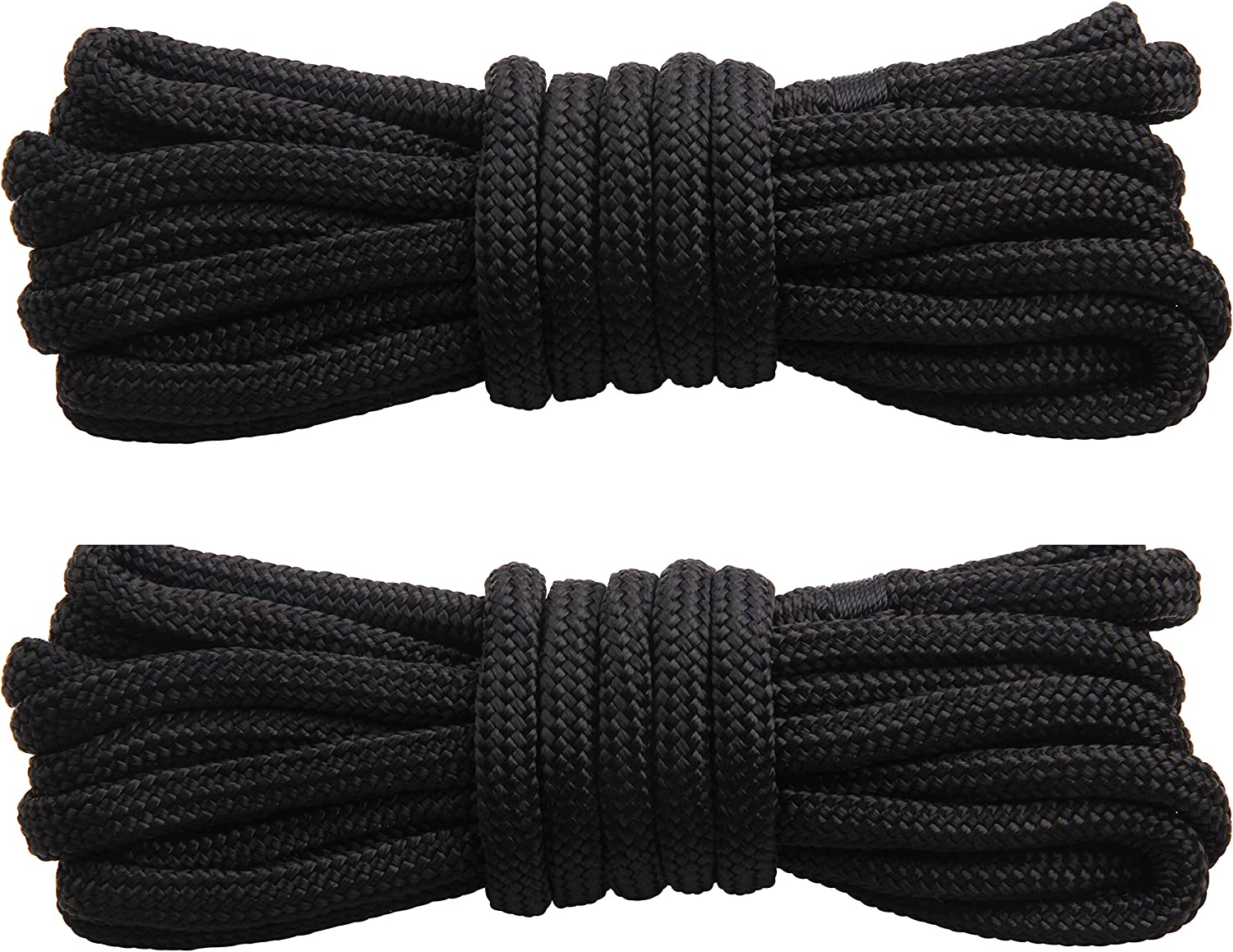 Boat Mooring Rope with 12 Inch Eyelet for Boats 25 FT,50 FT Shaddock Fishing Docking Lines Double-Braided Nylon Anchor Rope 1//2 Inch