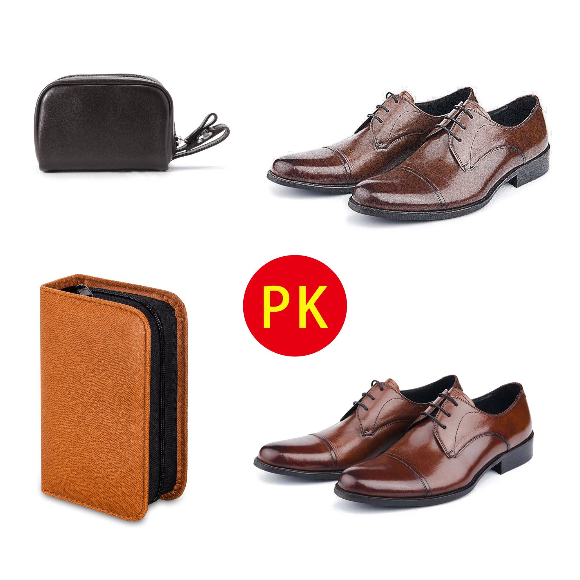 Shoe Shine Kit with PU Leather Sleek Elegant Case, 7-Piece Travel Shoe Shine Brush kit by make it funwan (Image #6)