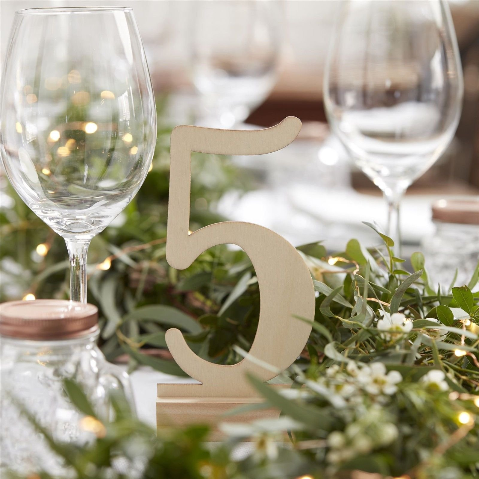 Giga Gud 20pcs (1-20) Wooden Table Numbers for Party Home Decoration Vintage Birthday Event Banquet Anniversary Decor Natural Wooden Catering Reception Table Decoration