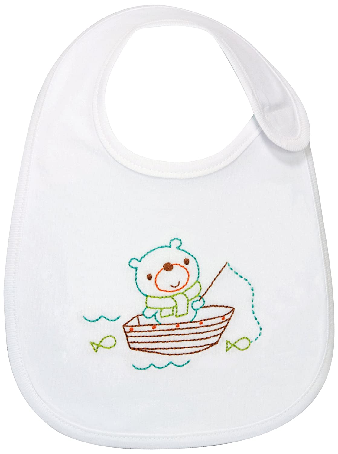 Fishing Bear Bib Embroidery Kit-7-1/2