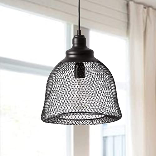 Industrial Pendant Lighting Farmhouse Pendant Light Mesh Wire Cage