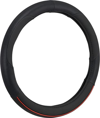 Bell Automotive 22-1-97115-9 Universal Anodized Hyper-Flex Core Steering Wheel Cover Red