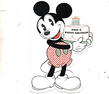 Have A Happy Birthday 3 Sunrise Greeting Cards Disneys Vintage Mickey Mouse