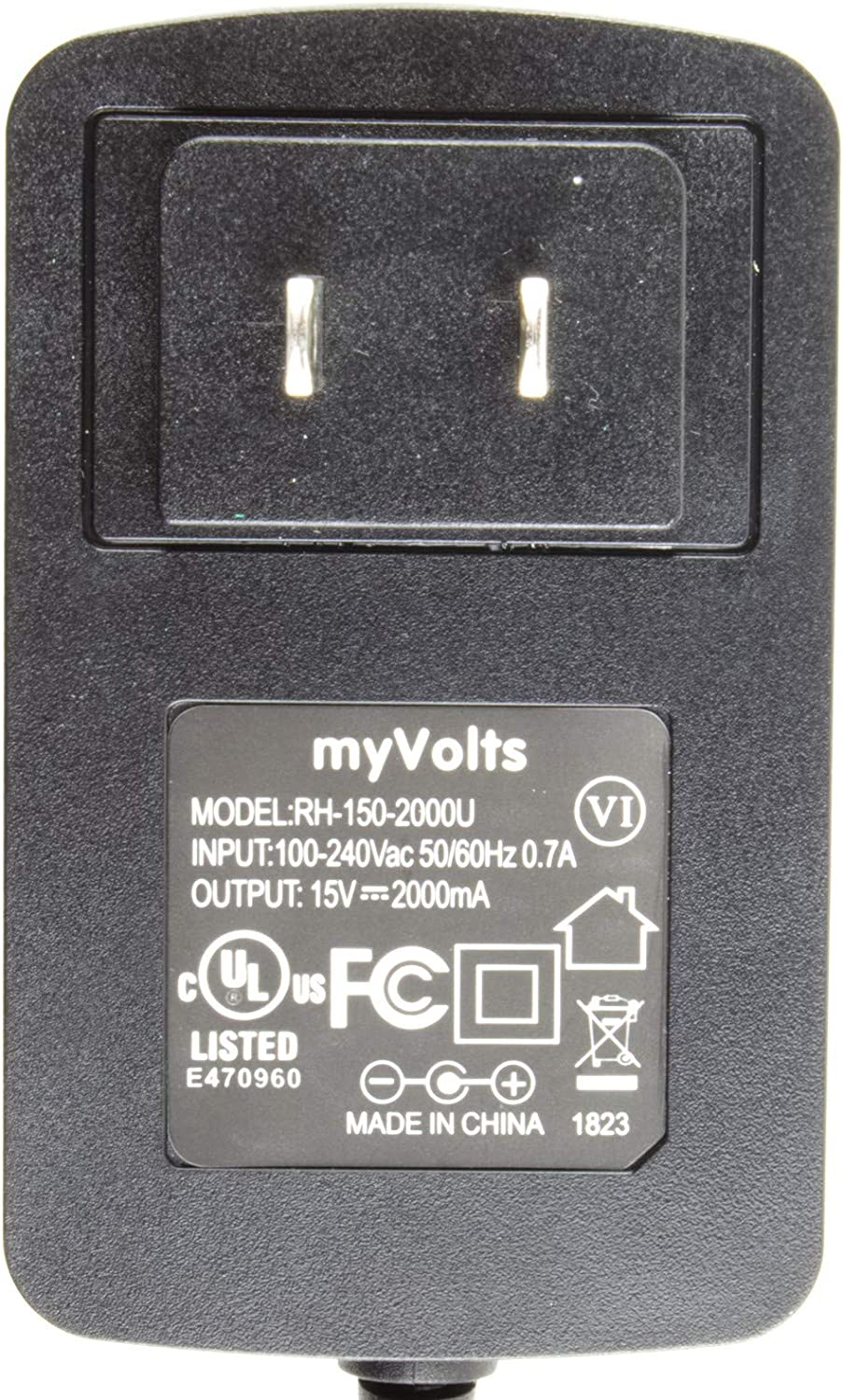 US Plug MyVolts 15V Power Supply Adaptor Compatible with Vestax PMC-05 Pro II Mixer