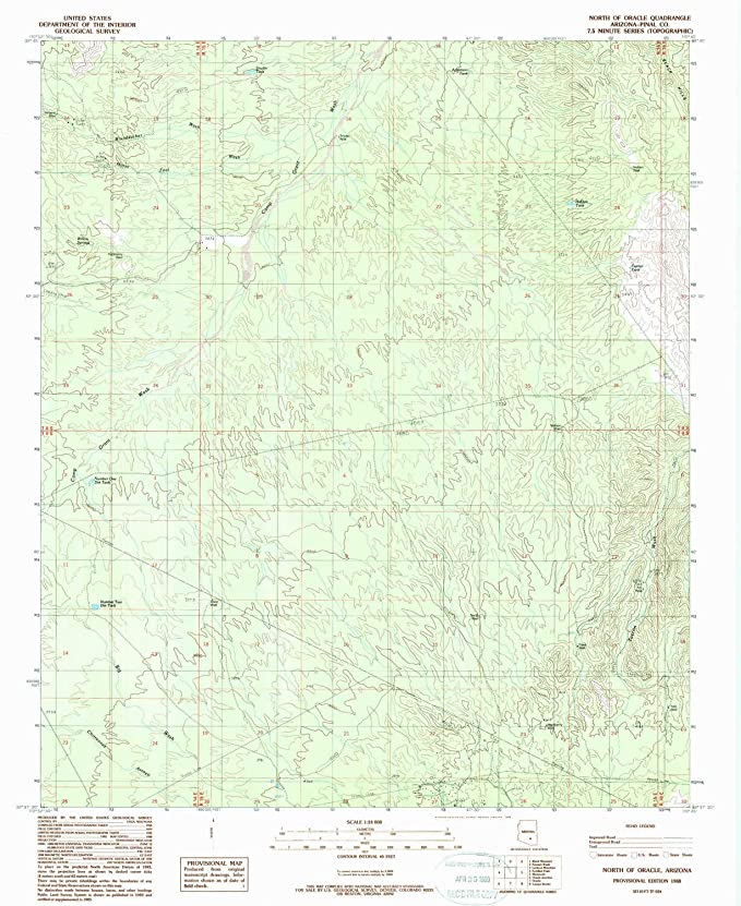 Map Of Oracle Arizona.Amazon Com Yellowmaps North Of Oracle Az Topo Map 1 24000 Scale