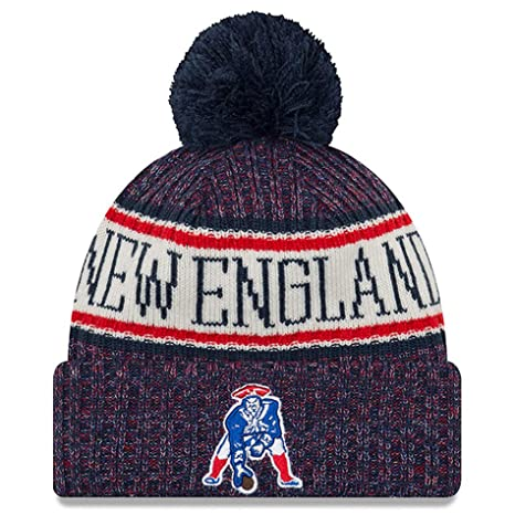 cdbd6414309 Image Unavailable. Image not available for. Color  New Era Youth New  England Patriots Classic Historic Throwback Sport Knit NFL Beanie ...