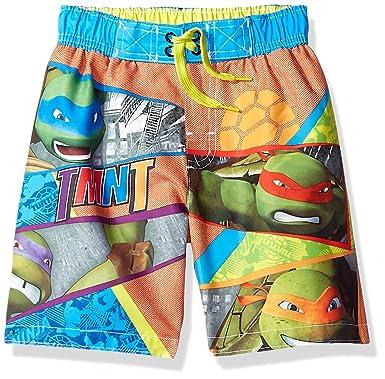 c30350cf88 Amazon.com: Teenage Mutant Ninja Turtles Little Boys Toddler Character  Print Swim Short: Clothing