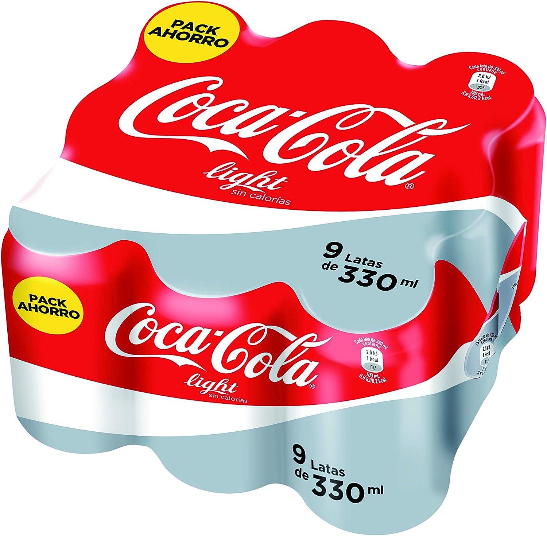 Coca-Cola - Light, Lata 330 ml (Pack de 9): Amazon.es: Alimentación y bebidas