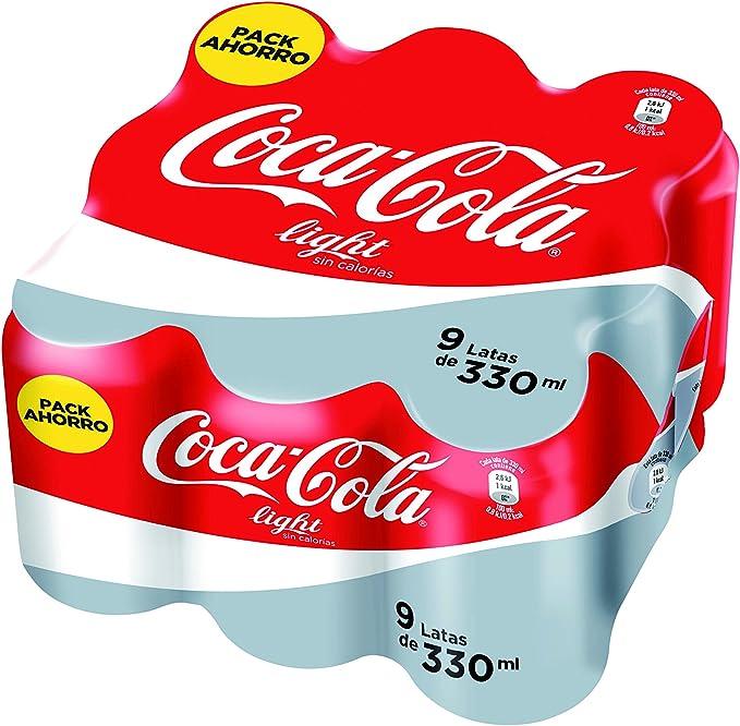 Coca-Cola - Light, Lata 330 ml (Pack de 9): Amazon.es ...
