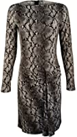MICHAEL Michael Kors Women's Long Sleeve Snake Print Dress
