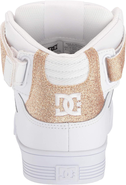 Dc Pure - Scarpe Da Skate Alte Donna Bianco Oro