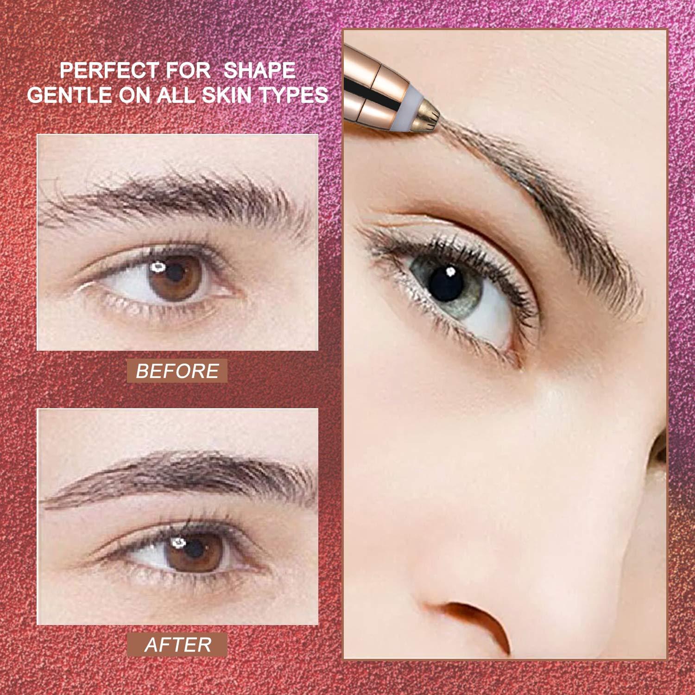 Mayper New Eyebrow Hair Remover Eyebrow Trimmer Remover Eyebrow Hair Remover Rose Gold