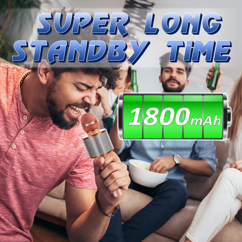 Wireless Bluetooth Karaoke Microphone with Portable Handheld Karaoke Speaker Machine Birthday Home Party-Best Gifts