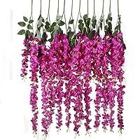 Luyue-Wisteria Ratta finta seta decorazione da appendere per Party, motivo Home Decor 4,59 cm, confezione da 1