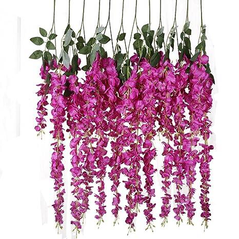 Künstliche Reben Seidenblume Kunstpflanzen Hängepflanzen Haus Hochzeit Deko