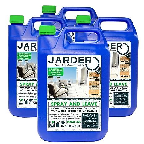 4 x 5 litros Concentrate Jarder Spray y limpiador de licencia – Patio Valla – Molde