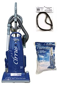 Cirrus Performance Pet Edition Upright Vacuum Cleaner Model CR99 w/ 6 bags and 2 belts included