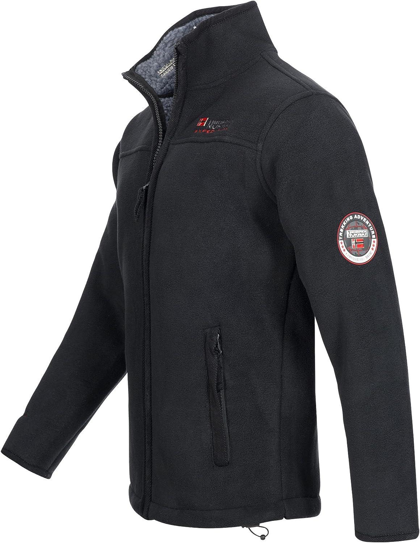 ULMAIRE taglia: da S a XXXL. con calda fodera in pelliccia da uomo Geographical Norway giacca in pile