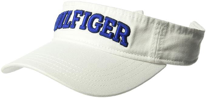 b7567abc Tommy Hilfiger Men's Dad Hat Hilfiger Varsity Visor, Classic White O ...