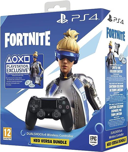 Sony - DualShock 4 V2 Fortnite VCH 2019 500 Vbucks, negro (PS4): Sony: Amazon.es: Videojuegos