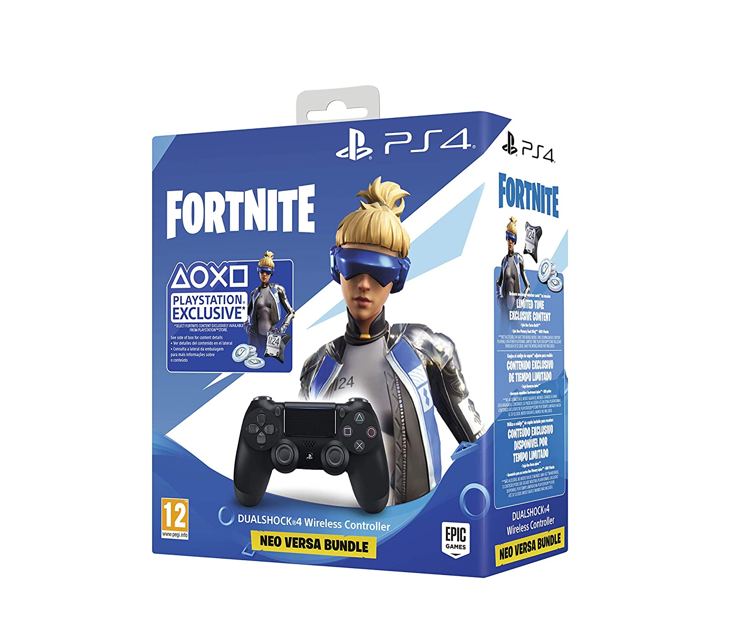 Sony - DualShock 4 V2 Fortnite VCH 2019 500 Vbucks, negro (PS4 ...