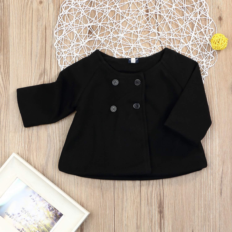 9838fc8f6 Amazon.com  Toddler Baby Girls Cute Fall Winter Button Cardigan ...