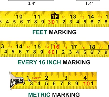 Cinta Métrica Regla Uktunu 7.5m Precisión Flexometro Retractable ...