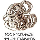 100pcs Highest Quality Nylon Headband - One Size Fits All Baby And Newborn - DIY Nude Headband