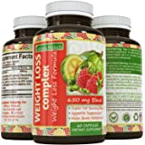 Garcinia Cambogia Weight Loss Supplement with Pure Green Tea, Green Coffee Bean, Raspberry Ketones Diet Pills for Women & Men Natural Carb Block Fat Burn Appetite Suppressant -California Products