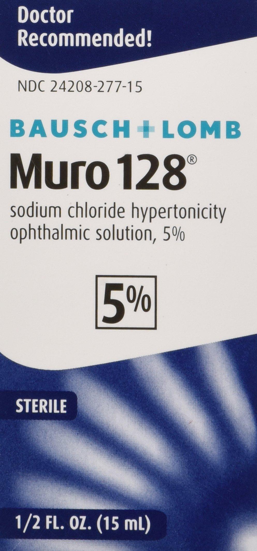 Bausch & Lomb Pharmaceuticals Muro 128, 5 Percent Solution, (15 mL), 0.5 oz.