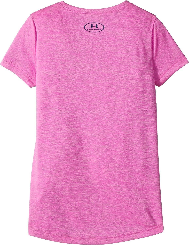 Under Armour Girls Hybrid Big Logo Short Sleeve T-Shirt