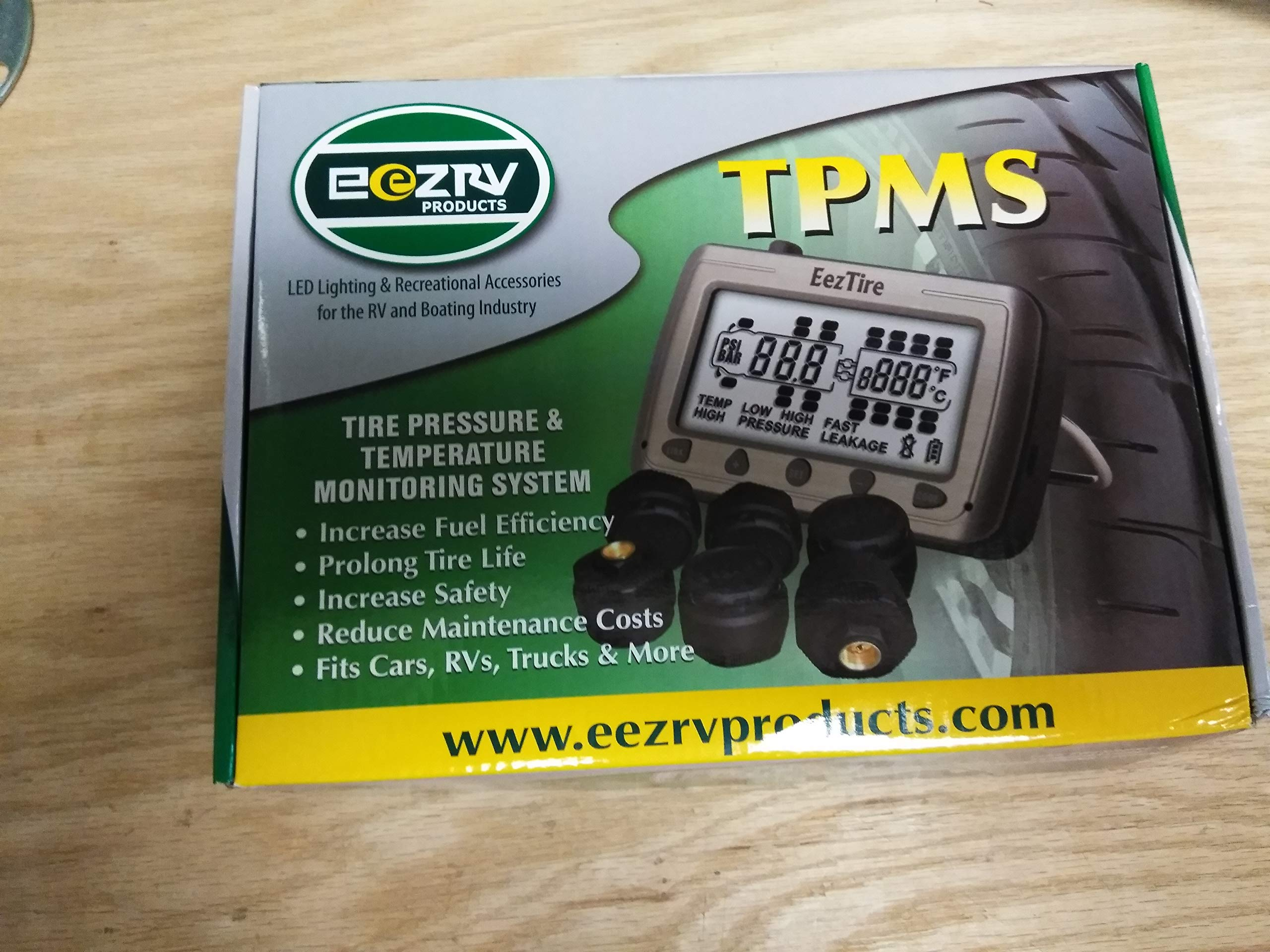 EEZTire-TPMS Real Time/24x7 Tire Pressure Monitoring System (TPMS10Mix) - 10 Mixed Sensors, incl. 3-Year Warranty