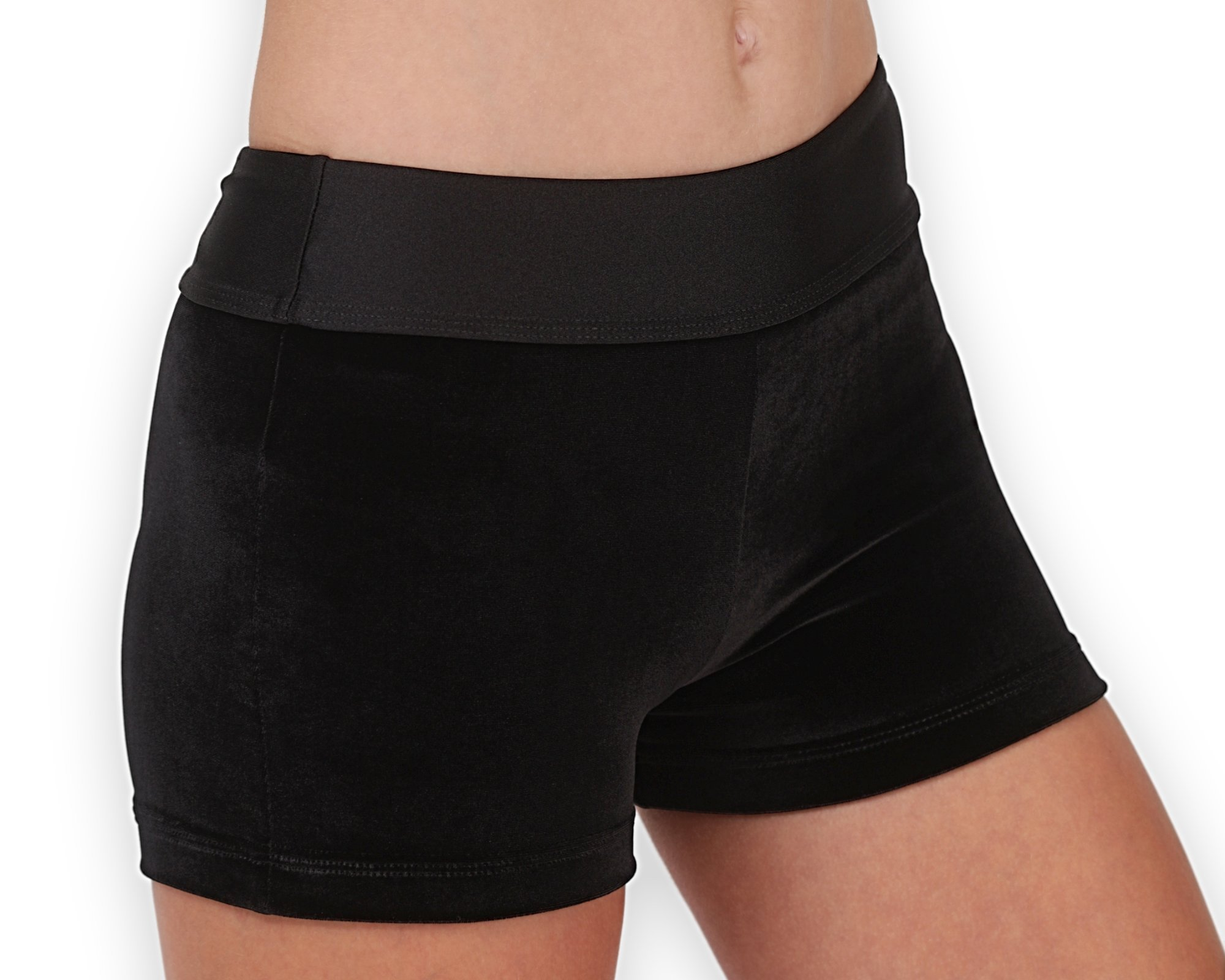 Leap Gear Gymnastics and Dance Shorts - Velvet/Black/Easy Care - C Small by Leap Gear