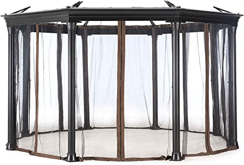 Sunjoy Universal Mosquito Netting For Round Gazebo