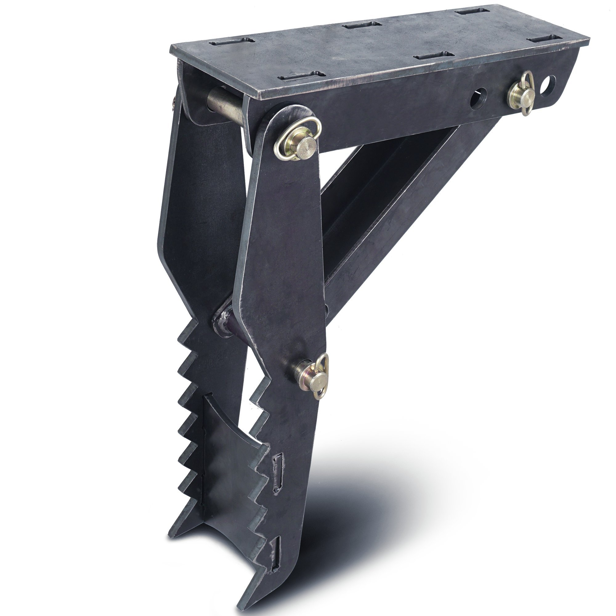 DIY 24'' Weld On Backhoe Thumb Hoe Clamp .5'' Steel Plate Assembly CNC Plasma Cut