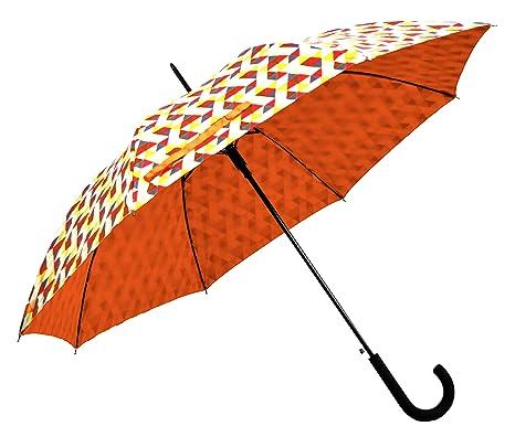 Paraguas bastón Pantalla automático ø105 cm Naranja Diseño Francés