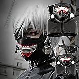 Halloween Cosplay Men's PU Leather Tokyo Ghoul Kaneki Ken Zipper Mask Costumes Props