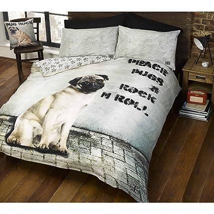 Doghouse Designs cucha 2 Diseños de Perro y edredón de Funda de edredón y de Almohada