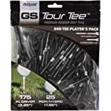 """GoSports 2.75"""" Tour Tee Premium Wooden Golf Tees - 200 Tee Player's Pack Driver and Iron/Hybrid Tees, Choose Your Tee Color"""