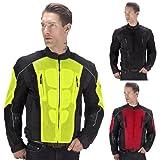 Viking Cycle Warlock Motorcycle Mesh Jacket (Yellow, X-Large)
