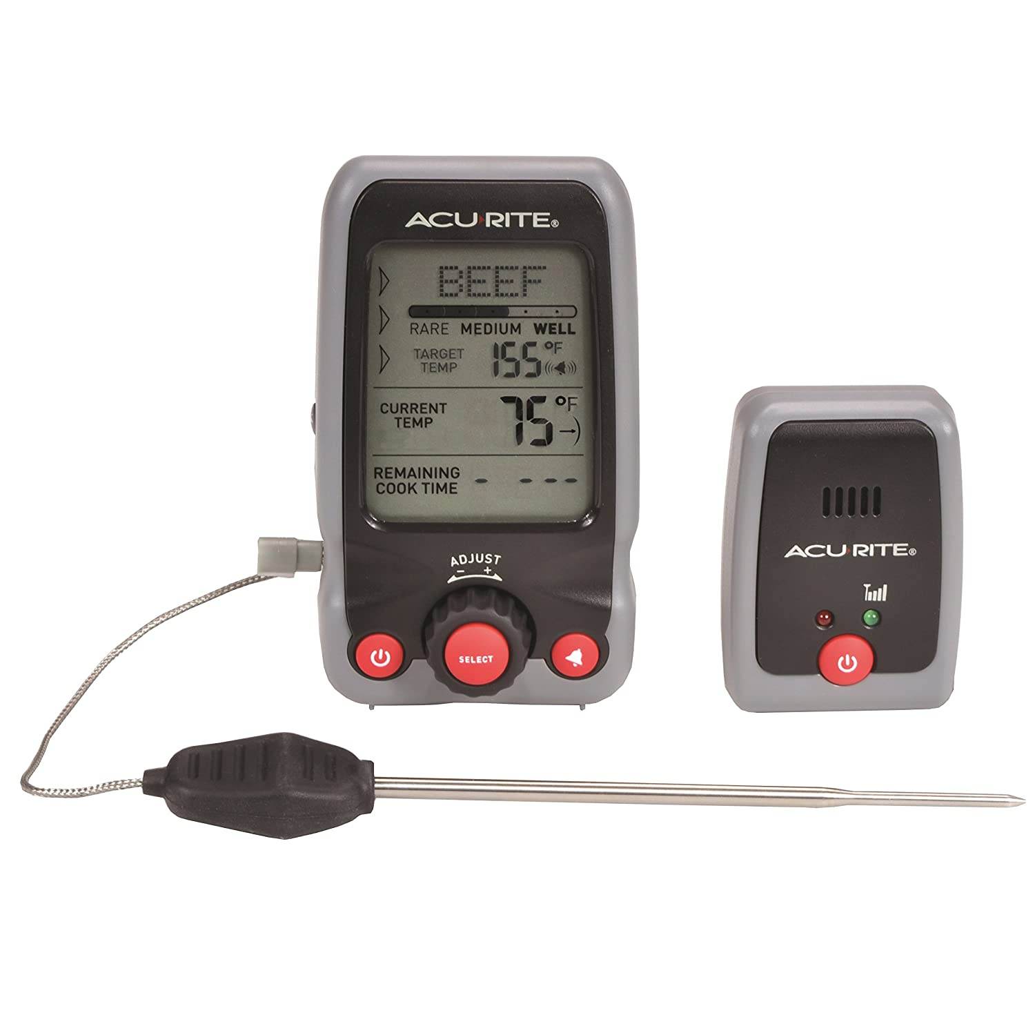 AcuRite Digital Meat Thermometer and Timer with Pager Chaney Instruments 00278