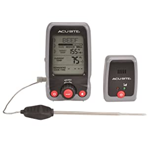 AcuRite 00278 Digital Meat Thermometer and Timer with Pager