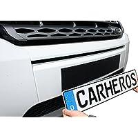 CarHeros 2 Stück Kennzeichenhalter Set rahmenlos Nummernschildhalter Klettband selbstklebend Klettverschluss 520mm
