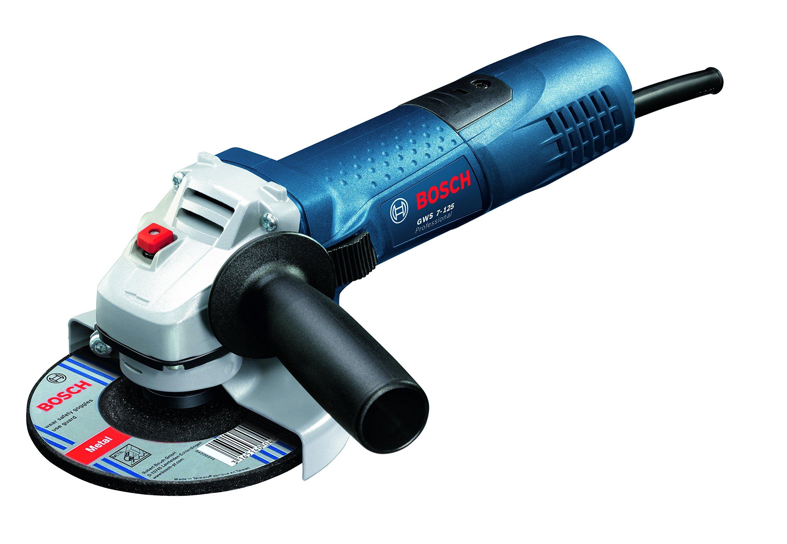 Bosch Professional GWS 7-125 - Amoladora angular, diámetro de disco 125 mm, en caja de cartón, 720 W, 240 V