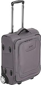 Amazon Basics Softside Carry-On Luggage Suitcase With TSA Lock And Wheels - 21.6 Inch, Grey