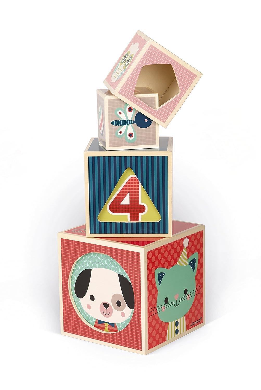 Janod- Pirámide de 6 Cubos Baby Forest (J08016): Amazon.es ...