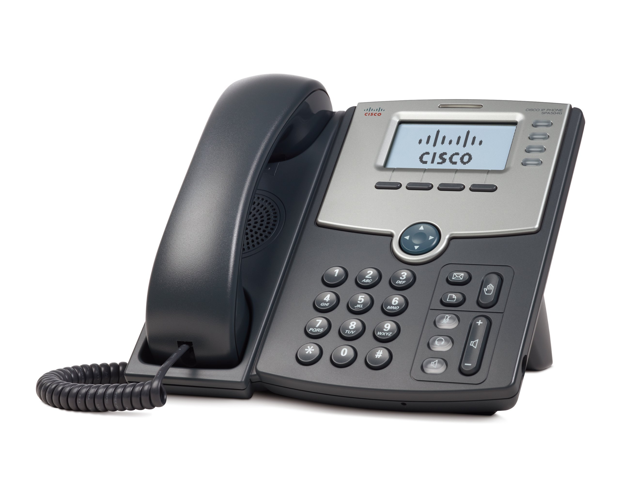 Cisco SPA504G 4-Line IP Phone with 2-Port Switch, PoE and LCD Display, Silver, Grey (Renewed) by Cisco