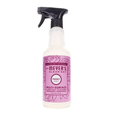 Mrs. Meyer's Clean Day Peony Multi-Surface Everyday Cleaner, 16 Fluid Ounce (Pack of 6)