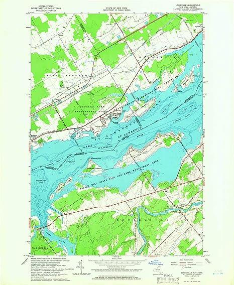 Nys Elevation Map.Amazon Com Yellowmaps Louisville Ny Topo Map 1 24000 Scale 7 5 X