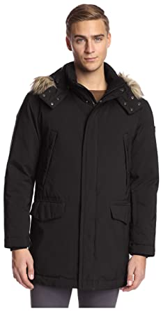 Amazon.com: Tumi Men's Fur-Trimmed Hooded Parka: Clothing